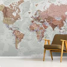 Executive Political World Map Wallpaper Wallsauce Us
