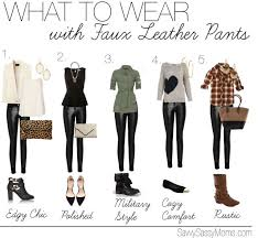 what to wear with faux leather pants