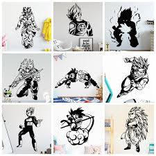 Hot Promo B0c2 Dragon Ball Wall Stickers Wukong Cool For Boys Room Bedroom Kids Rooms Home Decoration Accessories Wall Decal Stickers Muraux Cicig Co