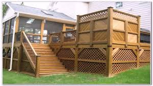 Deck Ideas With Privacy Fence Youtube