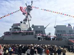 USS Ralph Johnson commissioned in Charleston before a crowd of ...