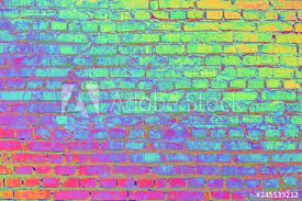 old brick color processing with a