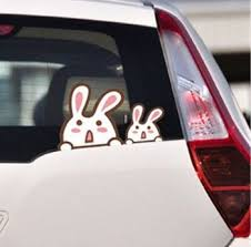 Funny Rabbit Car Wall Sticker Mocmoc Bunny Decals For Auto And Kids Room Car Decals Stickers Car Decals Vinyl Car