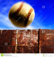 Baseball Over The Fence For Homerun Stock Photo Image Of Love Sport 21989568