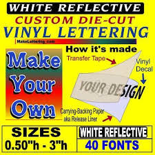 Custom Vinyl Lettering White Reflective Car Decal Vinyl Custom Stickers Ebay
