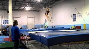 Abby Bowman level 5 trampoline routine Midwest Gymnastics - YouTube