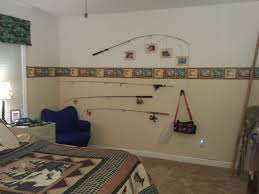 Fishing Theme Boys Bedroom Want To Do The Top Fishing Rod Picture Frames Fishing Bedroom Fishing Themed Bedroom Boys Fishing Bedroom