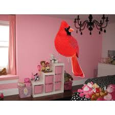 Shop Full Color Cardinal Full Color Decal Bird Full Color Sticker Wall Art Sticker Decal Size 33x52 33 X 52 Overstock 14330968