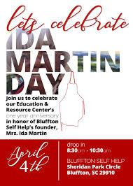 APRIL 4TH   IDA MARTIN DAY