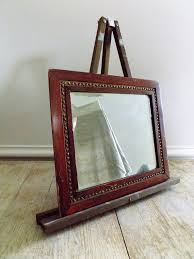 mirror in solid wood frame gold trim