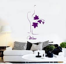 Wall Vinyl Decal Wine Quote Bottle Glass Sketch Winery Wine Etsy
