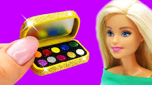 barbie doll makeup set diy for kids