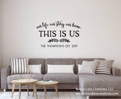 This Is Us Family Established Decal Last Name Wall Decal Etsy Name Wall Decals Name Wall Decor Wall Decals