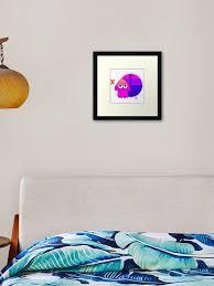 Splatoon 2 Coldblooded Framed Art Print By Binaryalto Redbubble