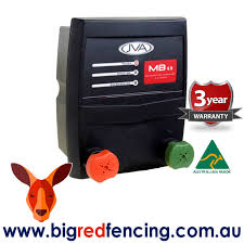 Jva Mb4 5 45km Mains Or Battery Powered Electric Fence Energiser 4 5 Joule Big Red Fencing