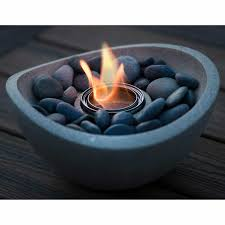 table top fire bowl with 3 pack gel