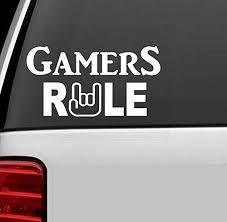 C1005 Gamers Rule Gamer Gaming Vinyl Decal Sticker For Car Truck Suv Van Wall Mirror Laptop Art For More Informatio Van Wall Vinyl Decal Stickers Rv Decals