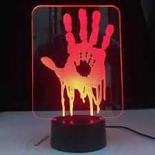 Video Game Usb 3d Desk Lamp Death Stranding Hand Prints Led Night Light For Kids Room Decor Cool Gift For Child Gamer Nightlight Led Night Lights Aliexpress