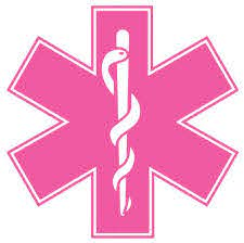 Pink Star Of Life Reflective Window Decal Police Fire Ems Viny Graphics Stickers Decals Dkedecals