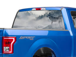 Sec10 F 150 Perforated Wolf Rear Window Decal T542475 97 20 F 150
