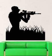 Soldier Wall Decal Vinyl Marine Sniper Sticker Art Decor Shooter Extra Large