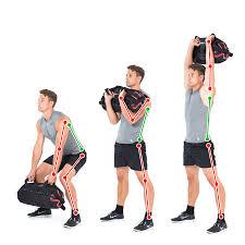 sandbag exercise lift to work out back