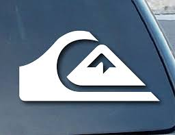 Amazon Com Spdecals Quiksilver Surf Car Window Vinyl Decal Sticker 4 Wide Color White Automotive