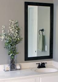 how to frame bathroom mirrors gray