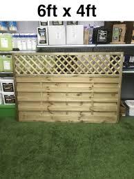 Hertfordshire Panel 1800mm X 1200mm 6ft X 4ft Decorative Fence Panel