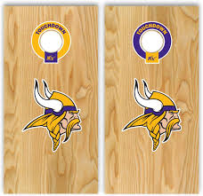 Amazon Com Set Of 2 Vikings Football Stickers For Cornhole Board Kitchen Dining