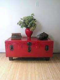 old metal trunk funky home decor
