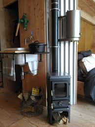 installing a wood stove in a tiny home