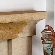 stone fireplace protection clean