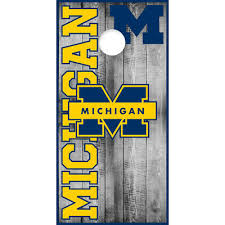 Backyard Games Cornhole Bag Toss University Of Michigan Ncornhole Board Or Vehicle Decal Ncaa Os15 S Zsco Iq