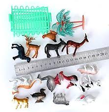 14pcs Plastic Farm Animals Toy Model With Fence And Tree Amazon Co Uk Toys Games