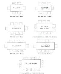 dimensions dining table size in feet