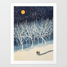"""Art Print: If on a Winter's Night Young Lover's... by Paul Sheaffer 17""""x22""""  ($30.00) (With images)   Winter art, Art, Popular art"""