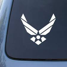 Amazon Com Air Force Usaf Us Wings Car Truck Notebook Vinyl Decal Sticker 2646 Vinyl Color White Automotive