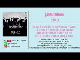 lirik exo promise by gomawo lirik korea song photo