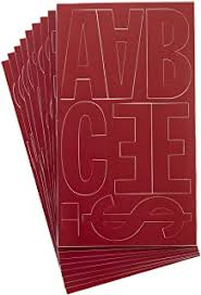 Amazon Com Duro Decal Permanent Adhesive Vinyl Letters 4 Gothic Red
