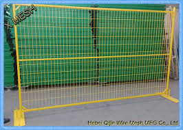 Pvc Coated Portable Temporary Metal Fence Panels With Steel Feet 6 X 8 Size