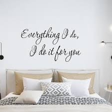 Everything I Do I Do It For You Wall Decal Wall Family Wall Etsy