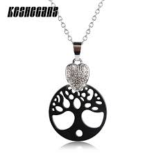 pendant necklace classic black