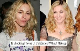 celebrities with and without makeup