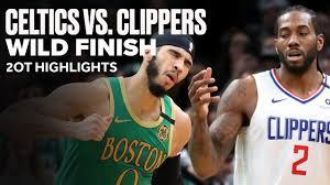 Celtics vs Clippers Wild Game