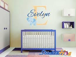 Custom Elephant Name Monogram Vinyl Wall Decal 3 Girls And Boys Room Graphics Bedroom Home Decor