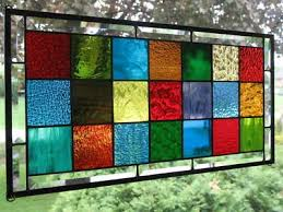 granny squares large stained glass