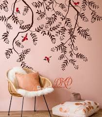Hanging Vines Branch Wall Decal Nursery Wall Decals Fruit Etsy