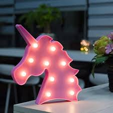 Night Lights Decorative Wall Lamp Unicorn Party Supplies Perfect For Kids Bedroom Decorations Includes Remote Control