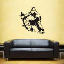 Roller Skating Skate Sticker Skateboard Sports Decal Kids Room Posters Vinyl Pegatina Decor Mural Wall Decals Sticker Wall Stickers Aliexpress